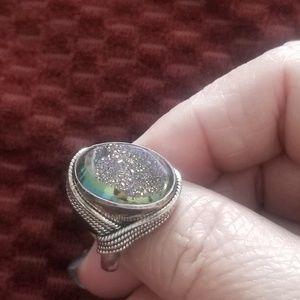 Jewelry - Druzy ring, size 7